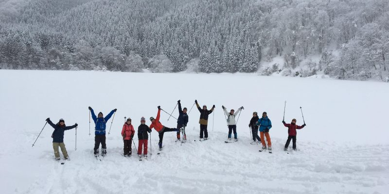 野草園スノーハイク体験ツアー